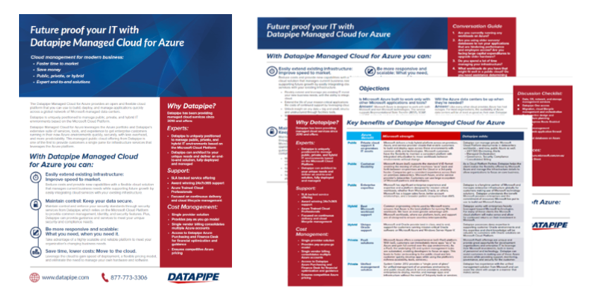 Sales Training Materials Help Datapipe's Sales Team Prepare for Microsoft Azure Launch