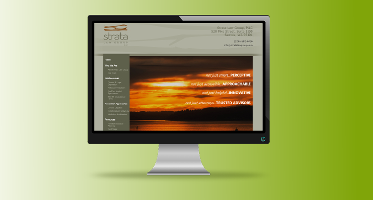 Strata Law Group Launches a new website, with a focus on content marketing